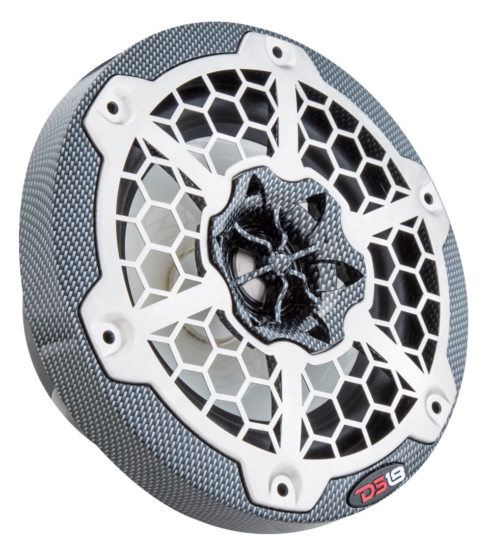 DS18 NXL6 6.5 Inch White Marine 6.5 Hydro 2-Way Speaker with Integrated RGB LED Lights//300 Max//100 Watts RMS 2 Pack