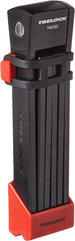 Trelock FS 200//100 TWO.GO Faltschloss 100 cm mit Halter weiß weiß