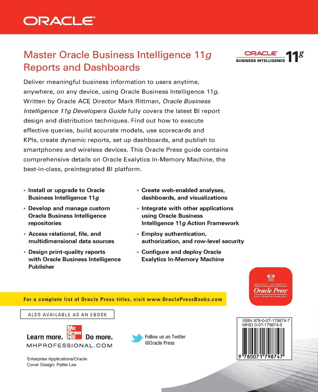 Buy Oracle Business Intelligence 11g Developers Guide Book Online at Low  Prices in India | Oracle Business Intelligence 11g Developers Guide Reviews  ...