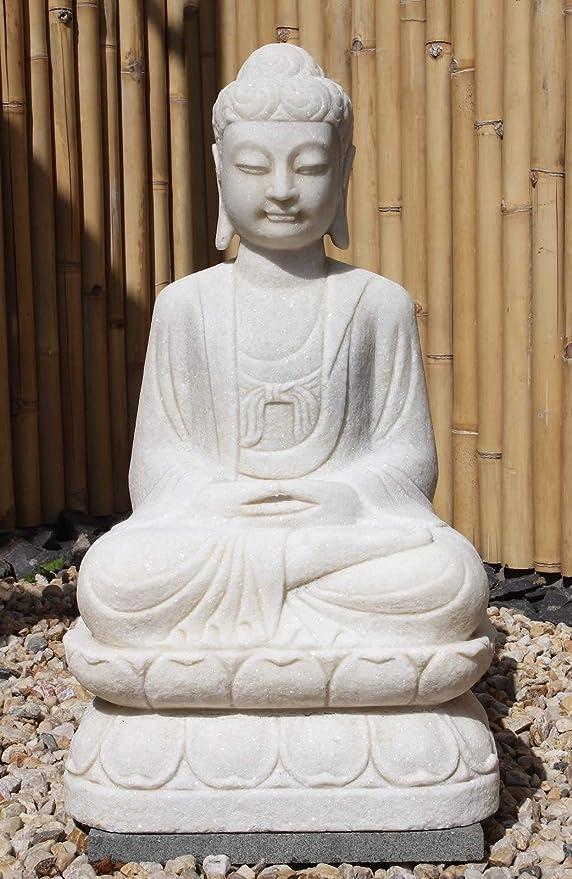 Asia Lifestyle Garten-Budha figura de mármol (81 cm) Meditación Yoga figura: Amazon.es: Jardín