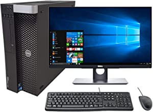 "Dell Precision T3600 Tower Workstation PC w/ 24"" Full HD (1080p) Touchscreen Monitor, Intel Xeon E5-1607 4-Core 3.00GHz, 64GB RAM, 1TB SSD + 4TB HDD, Quadro M4000 8GB, Windows 10 Pro (Renewed)"