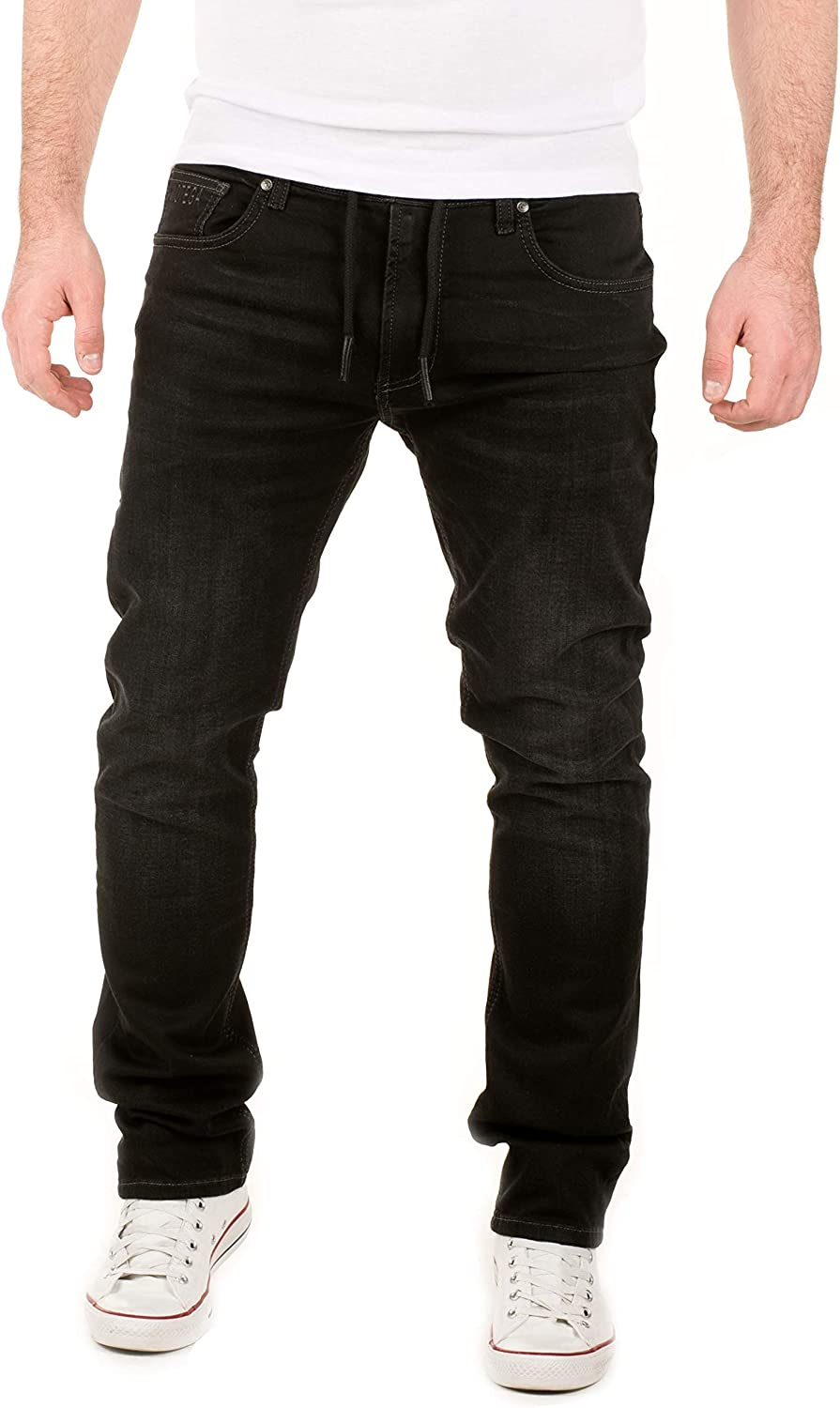 Straight Leg Mens Designer Cuffed Denim Skinny Joggers Jeans Slim Fit Trousers