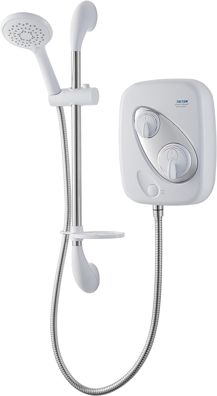Triton Thermostatic Power Shower - White