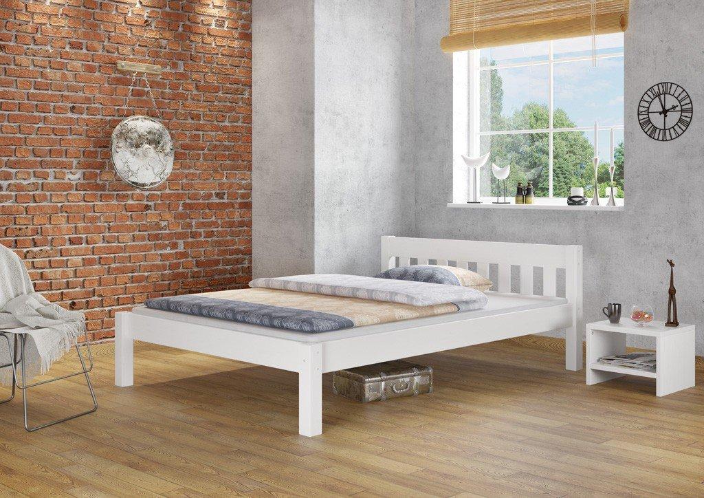 Letto Futon Matrimoniale : Letto matrimoniale futon bianco in pino massello eco con