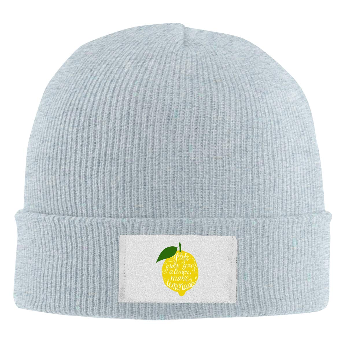 Stretchy Cuff Beanie Hat Black Dunpaiaa Skull Caps Gives You Lemons Make Lemonade Winter Warm Knit Hats