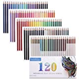 120 Oil Colored Pencils, Southsun Colored Pencils For Art Drawing, Sketching, Adult Coloring Books, Pre-sharpened, Fine…