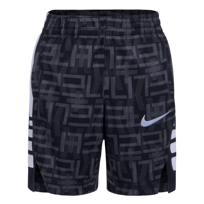 Nike Boy`s Dri-FIT Elite Basketball Shorts (Black(86C895-023)/White, 6)