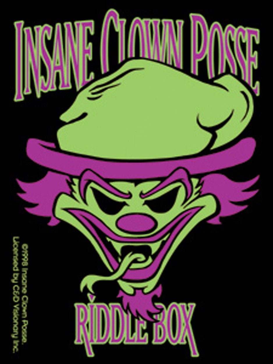 Licenses Products Insane Clown Posse Cartoon Riddle Riddle Riddle Box Sticker B005CYVYA4 | Optimaler Preis
