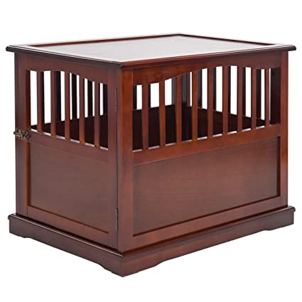 Attrayant Giantex Wood Pet Dog Kennel Crate End Table Cat Dog House Kennel Cage