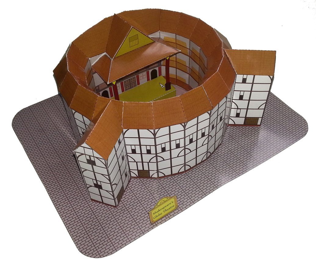 Globe Theatre Of Shakespeare Paper Craft Model Amazonin Home Kitchen