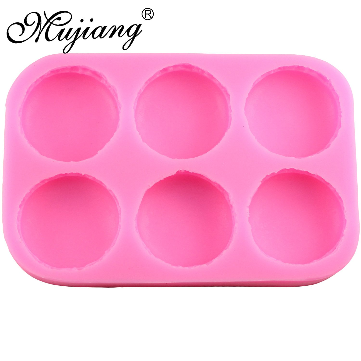 Star Trade Inc 6 Cavity Macaroon Hamburger Cake Silicone Molds Fondant Cake Decorating Tools Chocolate Candy Mold Fimo Clay Soap Moulds 1 pcs