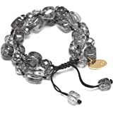 Lola Rose Berlin Bracelet in Black Rock Crystal of 15-19cm