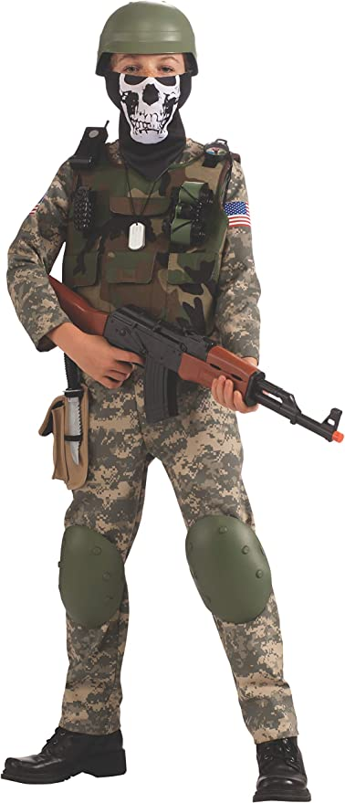 Combat Trooper Boys Child Army Solider Halloween Camo Costume