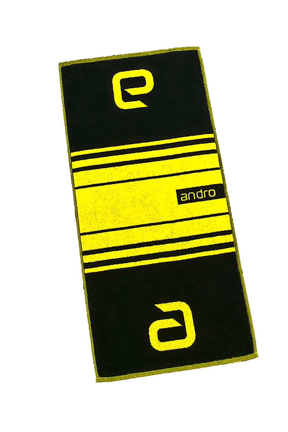 Andro Towel Stripes options St black/yellow 88809143