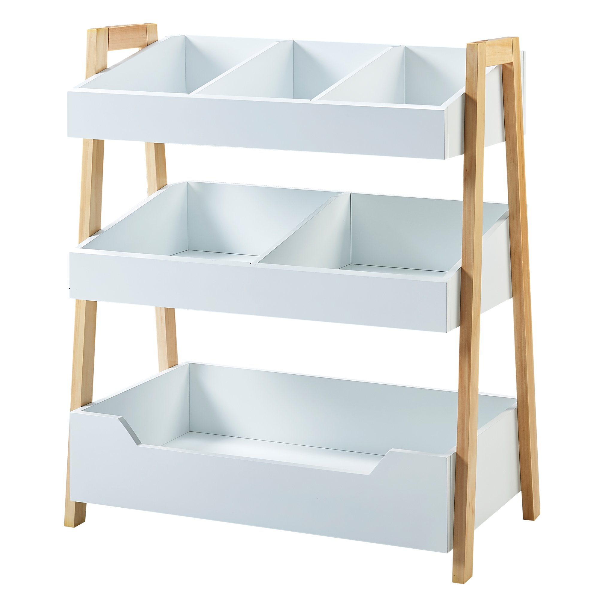 Versanora VNF-00001 Pulire Space Saver Modern and Stylish Cube Shelf-White/Natural
