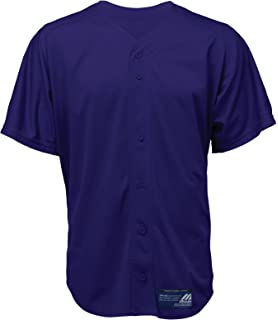 Mizuno Boys Full Button Mesh Short Sleeve Baseball Jersey