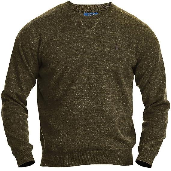 c65e5da25ce Polo Ralph Lauren Men s Long Sleeves Crewneck Pullover Sweater Green  (X-Small)