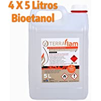 4 X 5L Bioetanol para lámparas y chimeneas