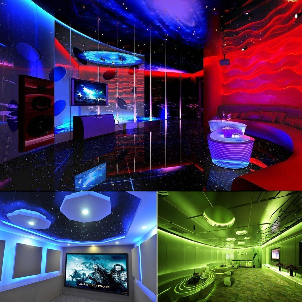 LED Strip Light,iNextStation 5M 3528 RGB SMD Color Changing Flexible Waterproof 300 LED Strip Light with 24 Key IR Remote Control [12V DC Safe Voltage, Without Plug]