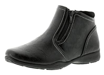 6ecce19ff50 Ever So Soft New Ladies/Womens Ankle Boot with Twin Zip - Black - UK Sizes  3-9