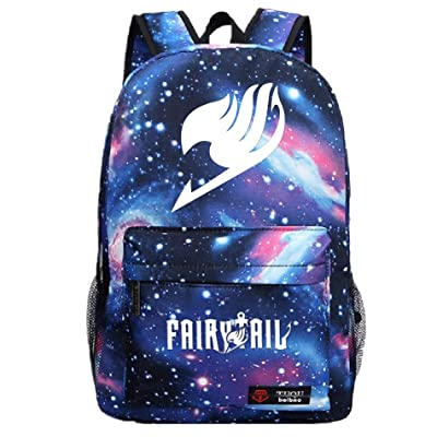 YOYOSHome Luminous Japanese Anime Cartoon Cosplay Bookbag College Bag Backpack School Bag (Fairy Tail Blue): Toys & Games