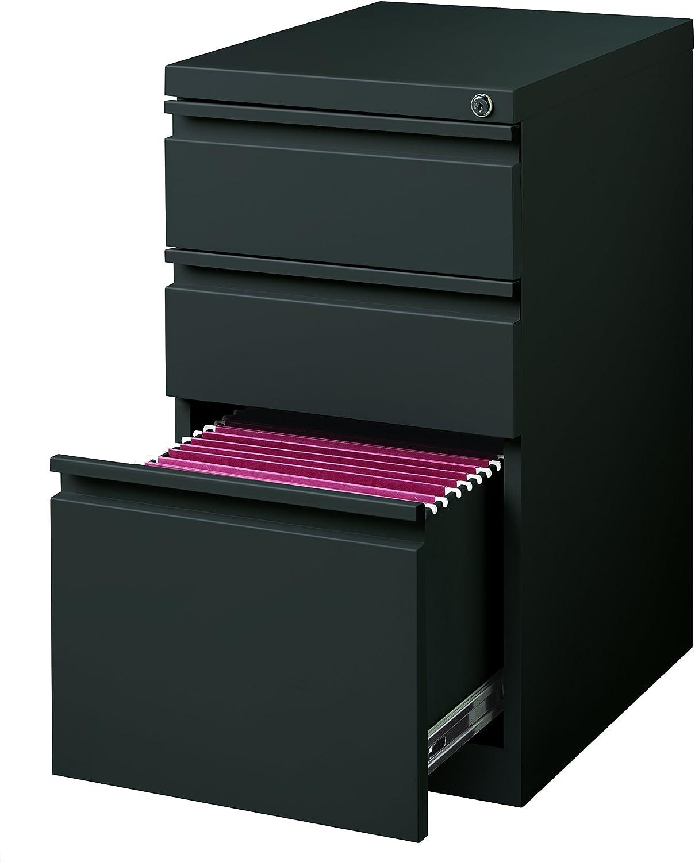 Hirsh Industries 20 Deep Box-Box-File Mobile Pedestal in Charcoal