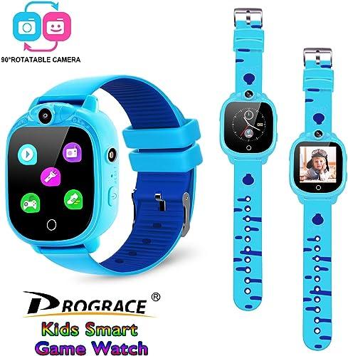 Prograce Kids Smart Game Watch in light blue