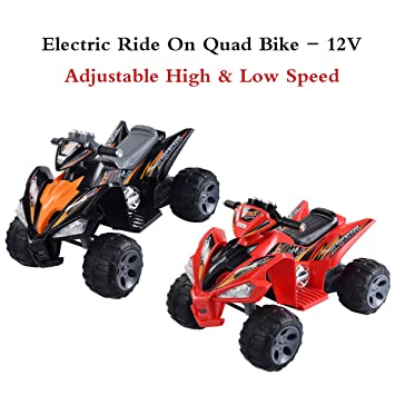 Costway Kids Ride On Quad Bike 12v Electric Battery Toys Car