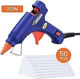 Hot Glue Gun,TOPELEK Heats Up Quickly 20W Mini Heating Hot Melt Glue Gun with Sticks(50pcs 100mm), ON-Off Switch for DIY Arts, Hobby, Craft, Home Repairs, Fabric, Metal, Wood, Glass, Card, Plastic