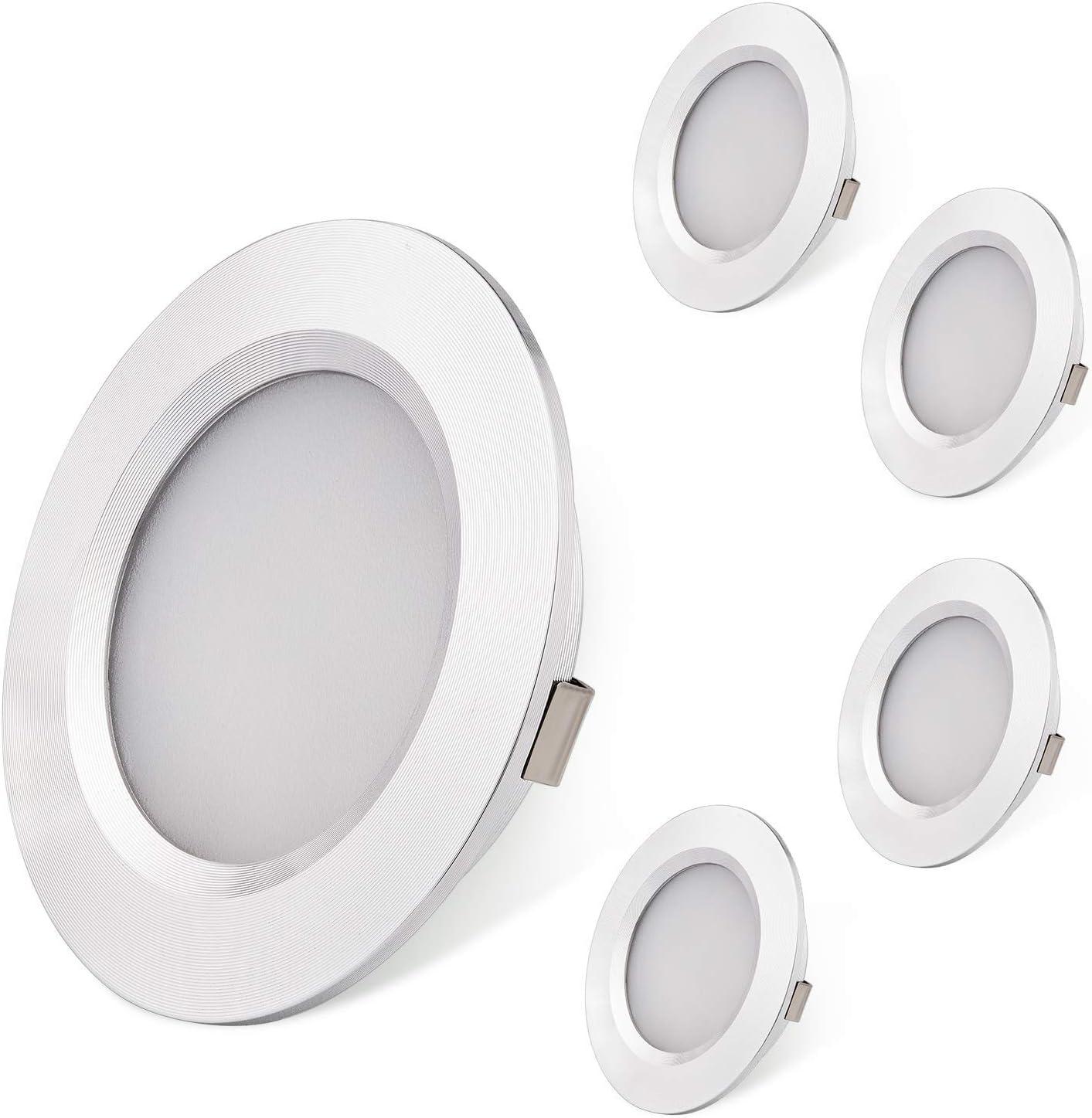AIBOO Lot de 4 Lampes LED Ultra Fines pour int/érieur de Camping-Car Bateau Maison 4 000 K Blanc Naturel voilier Van Camping-Car