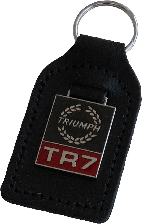 fob Classic Mini car shape leather and enamel car key ring