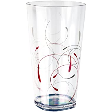 Corelle Coordinates Splendor Acrylic Tumbler Glasses, 19-Ounce, Set of 6