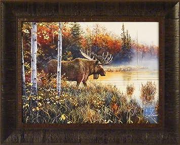 Amazoncom Master Of His Domain By Jim Hansel X Moose Framed - Moose wall decor