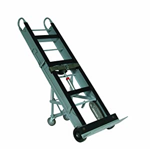 """Wesco 272412 Aluminum Economical Appliance and Vending Truck with Kick-Out Design and Auto Rewind Single Ratchet, Moldon Rubber Wheels, 550-lb. Load Capacity, 61"""" Height, 12"""" Length x 24"""" Width"""
