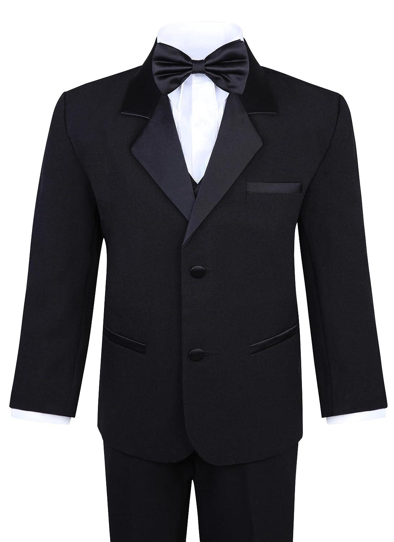 Boy's 5-Piece Tuxedo Set – Black