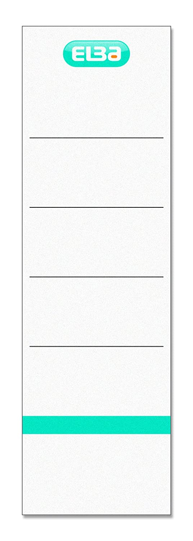 242/x 64/mm Elba 400039632/Targhette per dorso di larghezza autoadesiva confezione da 10 Bianco
