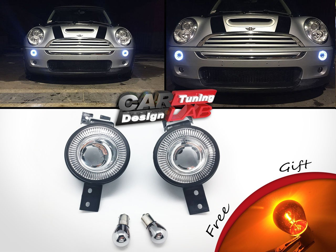2) LED klar Blinkerglas vorne Bumper Halo Felgen Licht für 2002–2008 ...
