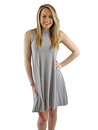 675310e53325 Luxury Divas Black   White Striped Sleeveless Skater Dress at Amazon ...