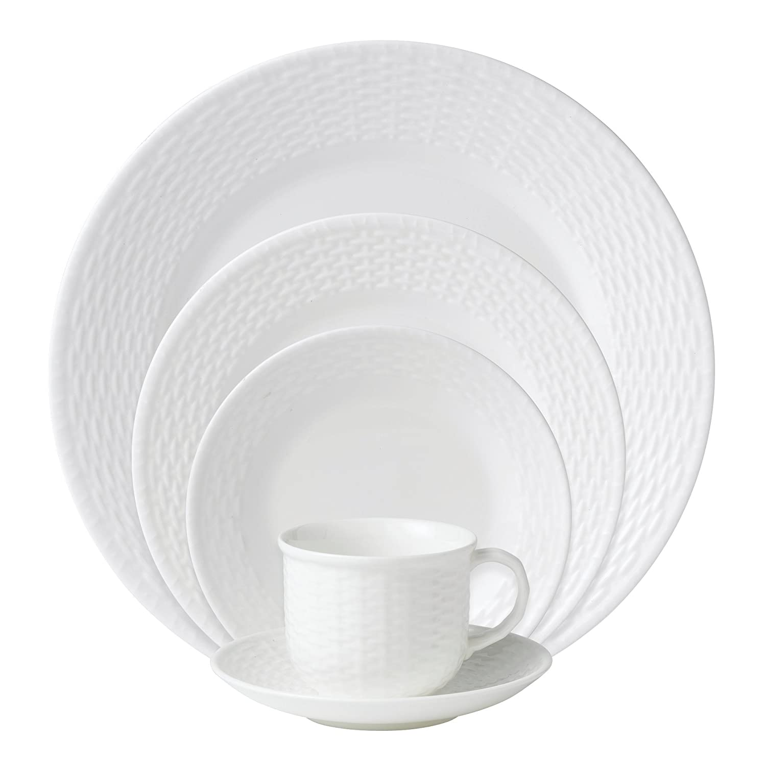 Amazon.com | Wedgwood 0-01562-0296 Nantucket Basket 5-Piece Place Setting Service for 1 Wedgwood Nantucket Basket Teapots  sc 1 st  Amazon.com & Amazon.com | Wedgwood 0-01562-0296 Nantucket Basket 5-Piece Place ...
