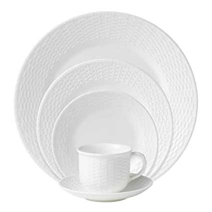 Wedgwood 0-01562-0296 Nantucket Basket 5-Piece Place Setting Service for  sc 1 st  Amazon.com : nantucket basket dinnerware - pezcame.com