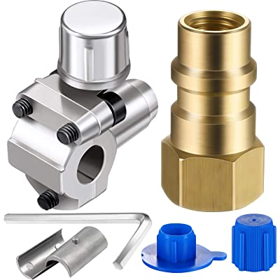 2 Packs A/C Retrofit Valve with Dust Cap Converts R12 to R134a Fit 7/16 Inch Low Side Port BPV-31 Bullet Piercing Tap Valve Replace for AP4502525, BPV31D, GPV14, GPV31, GPV38, GPV56, MPV31: Automotive