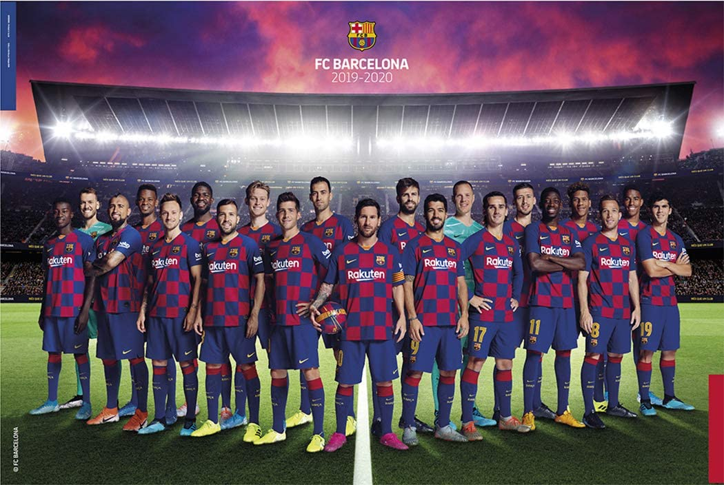 fc barcelona soccer poster team photo season 2019 2020 size 36 x 24 inches amazon ca home kitchen amazon ca