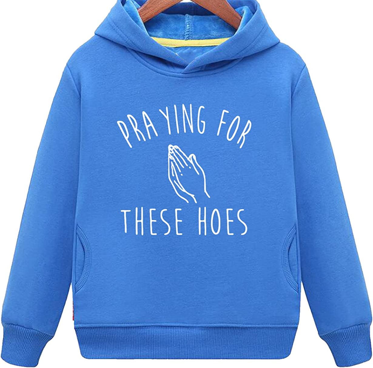Kids Two Pockets Prayer Hands Praying for These Hoes Hoodie