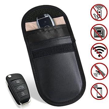 Coche clave bloqueador de señal funda de seguridad, 100% Defender llavero RFID señal de amplificador ...
