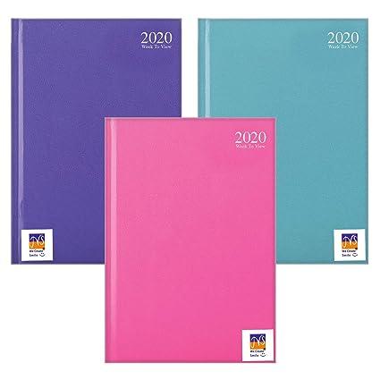 JMS® - 2020 Agenda semanal A4 de colores pastel para ...