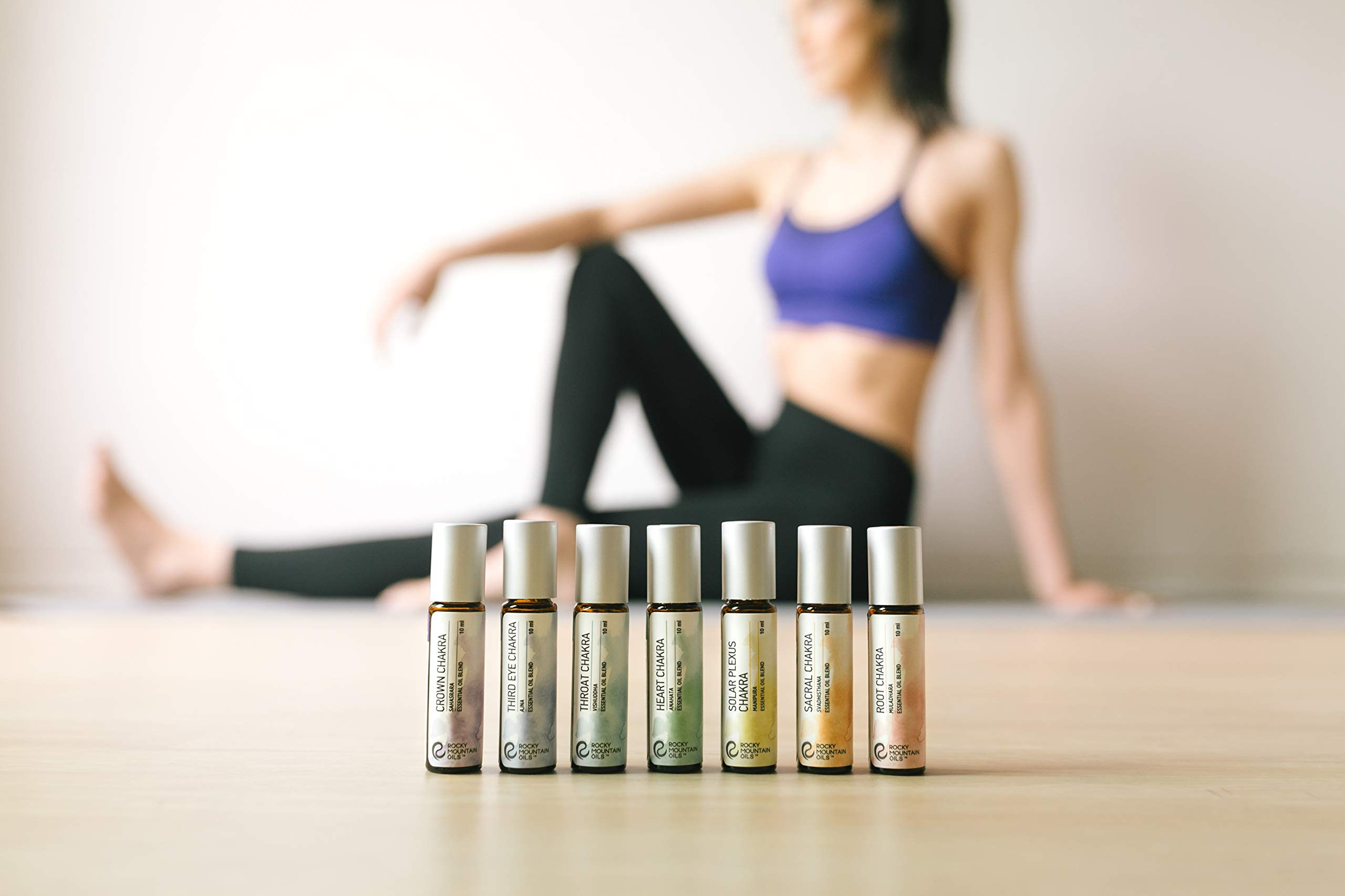 Rocky Mountain Oils - Chakra Blends Kit - 10 ml - 100% Pure and Natural Essential Oil Kit | Includes Root, Sacral, Solar Plexus, Heart, Throat, Third Eye, and Crown Chakras