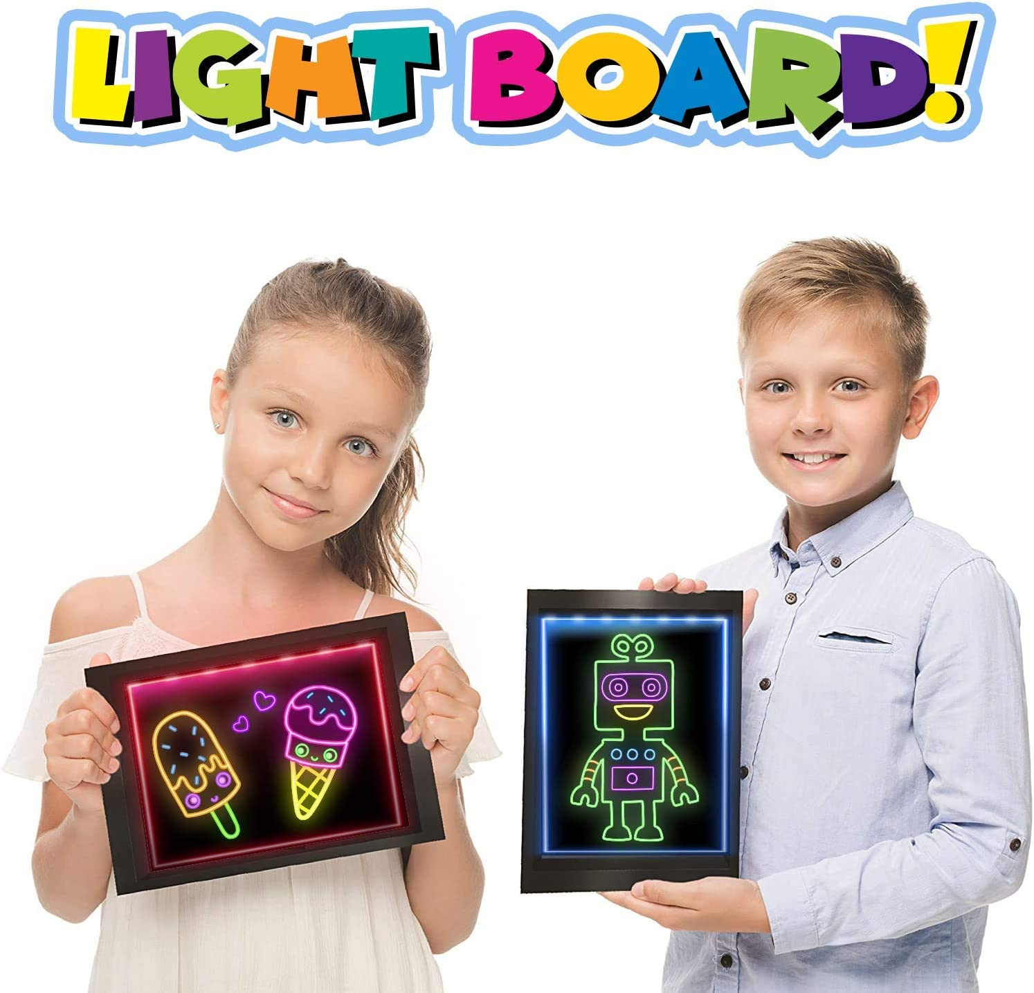 Amazola AM-102 Drawing Board Comes with Remote Control and 10 Comes with 10 Stencils Art Kit for Kids