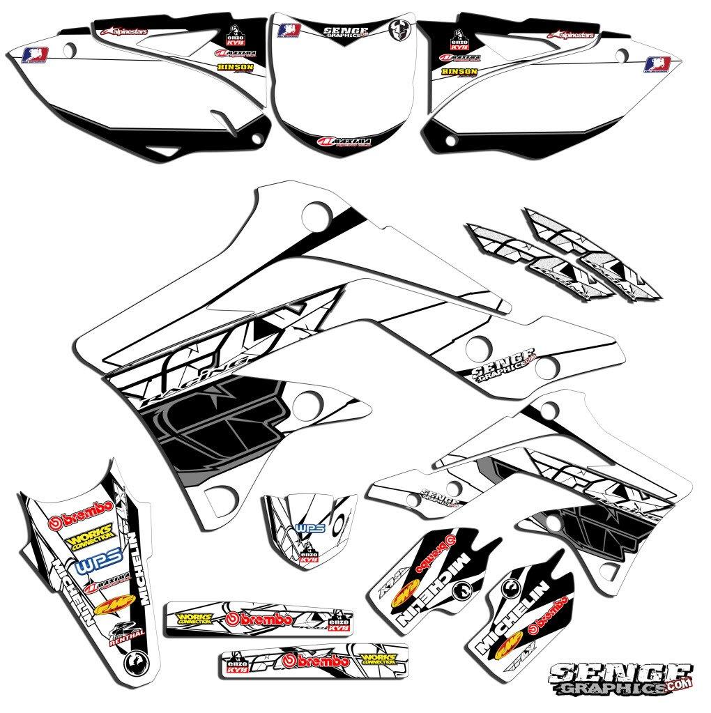 Fly Racing Blue Complete kit Senge Graphics 2015-2018 YZ 85 Compatible with Yamaha