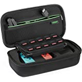 UGREEN Nintendo Switch Bag Shockproof Case Travel Carrying Case with Carved soft Liner for Nintendo Switch Console, AC Wall Charger, Grip and Joy-con, 10 Games Cards, Strapes and HDMI Cables