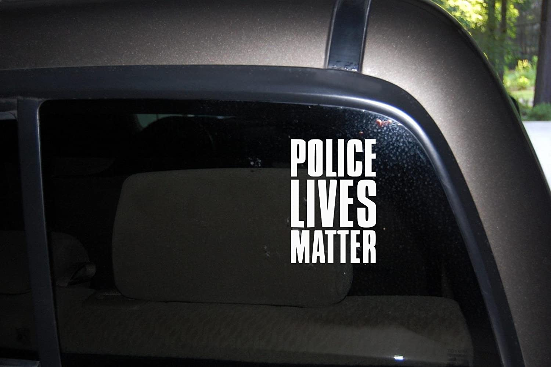 Car sticker design kl - Amazon Com Police Lives Matter Support Police Love Police Heart Police Car Truck Automotive Window Black Or White Decal Bumper Sticker 6 3 H X 4 3 W